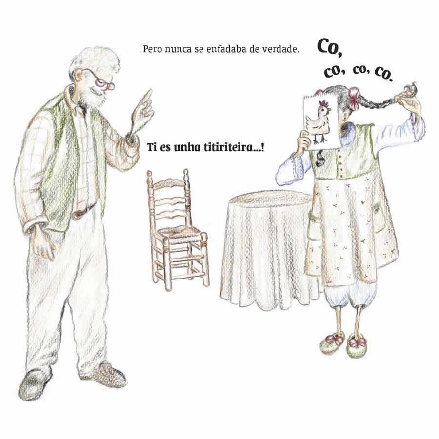 Ilustración do libro Un avó especial