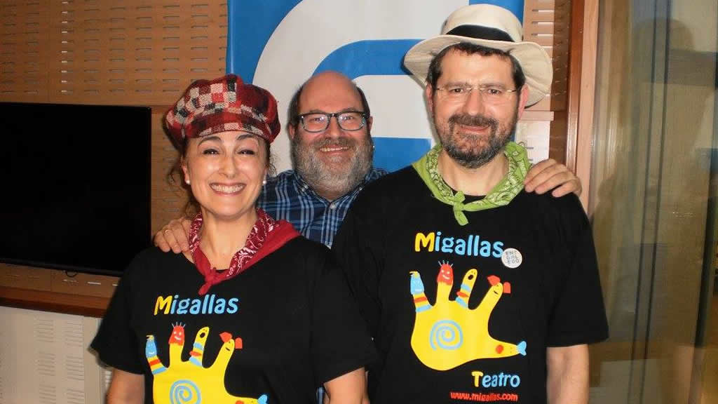 Emilio Espadañero con Maia Campos e Carlos Yus