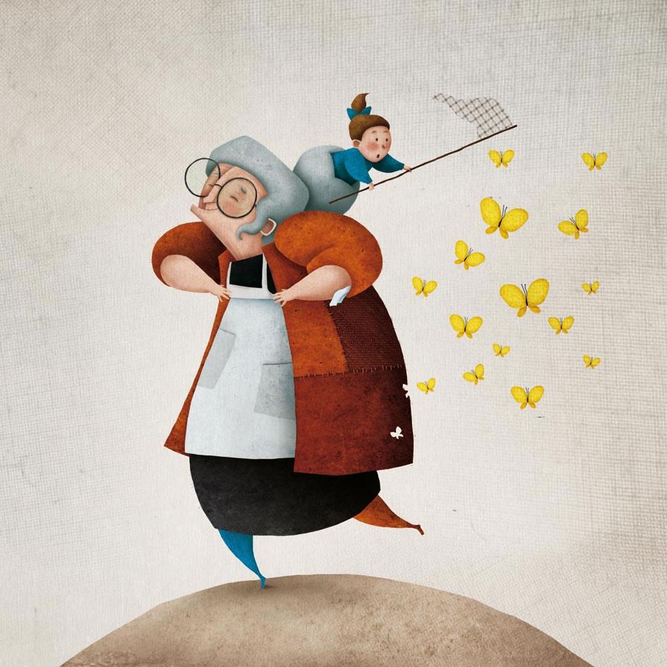 Ilustración da canción Miña abuela Manuela